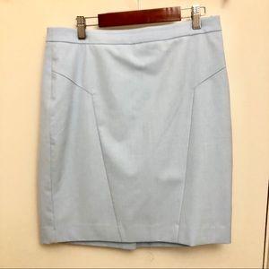 Light blue pencil skirt size 6 petite